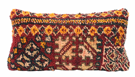 Moroccan Vintage Wool Rug Carpet Cushion Cover 60x30 cm / 24
